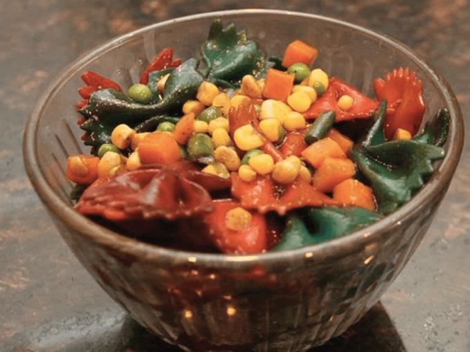 rainbow pasta salad stepstoolchef