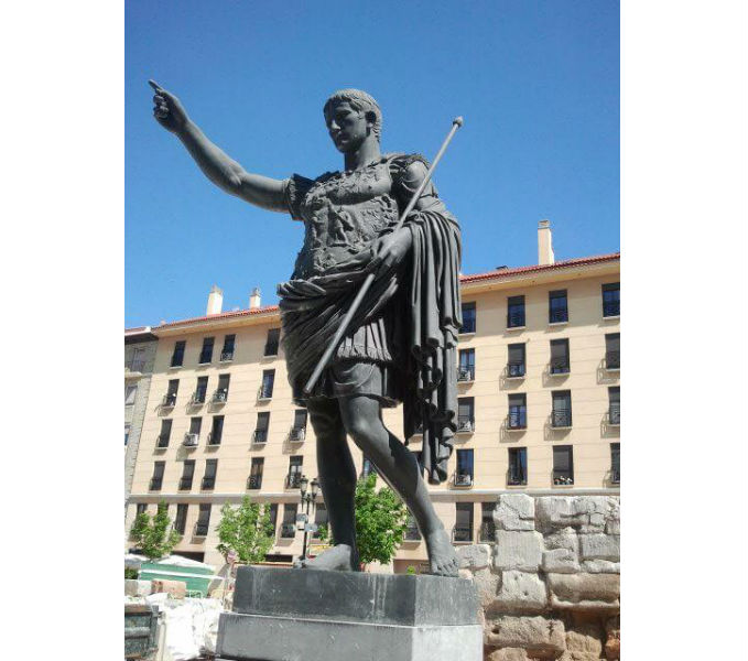 zaragoza spain augustus statue