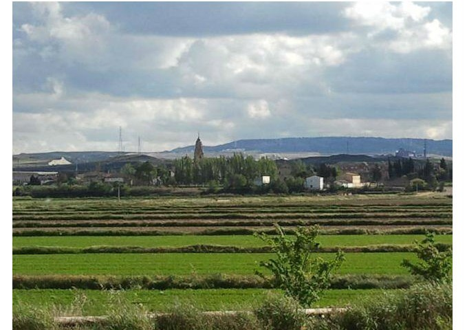 zaragoza spain farm view